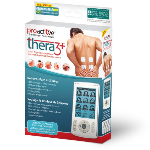 TENS 3-in-1 Physiotherapy Device Thera3+™ by ProActive™