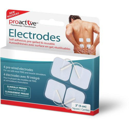 ProActive™ Self Adhesive Electrodes, square, 2 inch x 2 inch (5 x 5 cm)