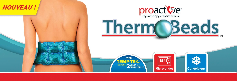 Compresses chaude et froides, Therm-O-Beads™, offrent 20 minutes de thérapie efficace par la chaleur ou par le froid.