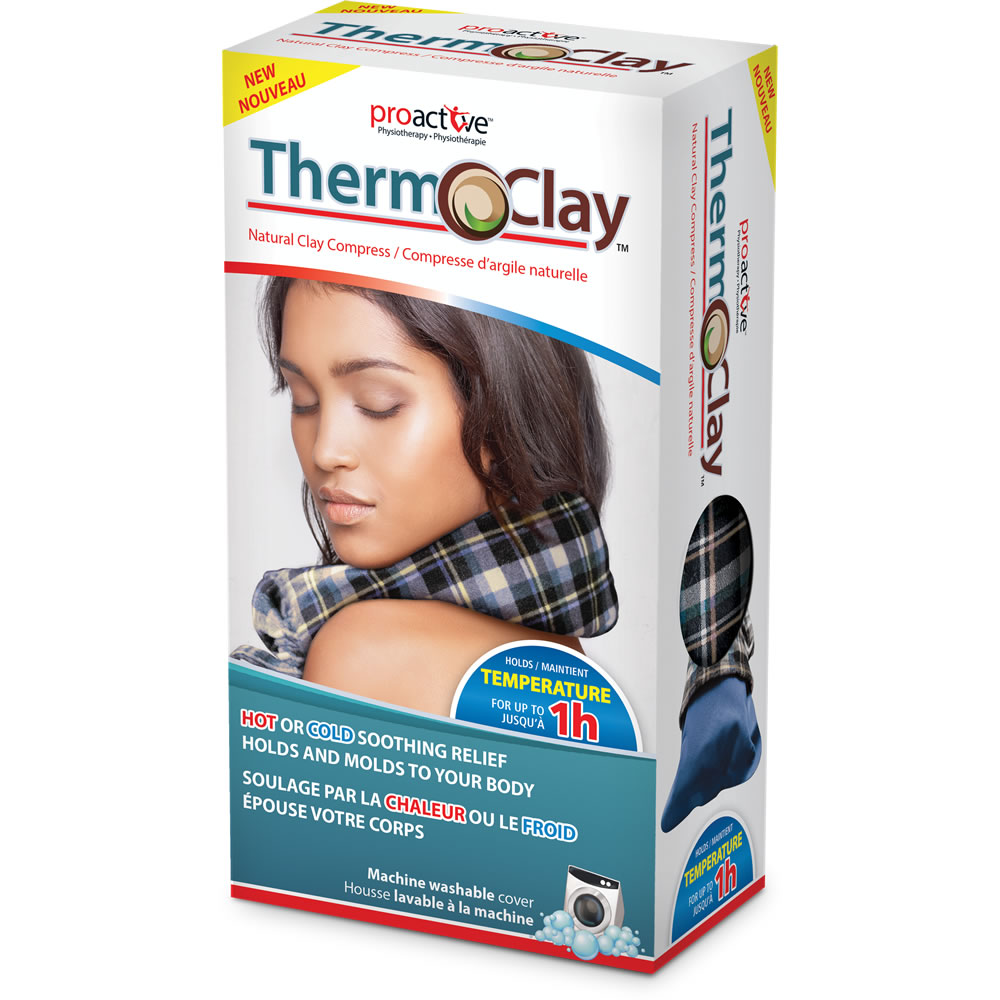 Therm-O-Clay™ Natural Clay Compress Retail Box - Blue