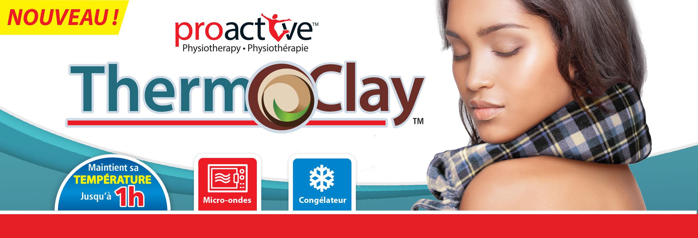 Chaude ou froide, la compresse Therm-O-Clay™ se moulera à votre corps. Cette compresse, faite d'argile naturelle, maintient sa température jusqu'à 1 heure.