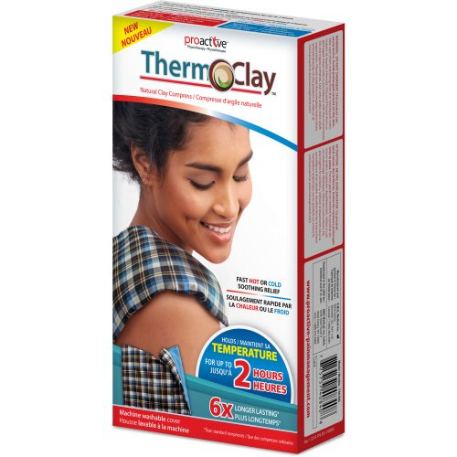 Therm-O-Clay™, compresse d'argile naturelle, format multiusage