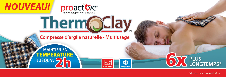 Chaude ou froide, la compresse Therm-O-Clay™ se moulera à votre corps. Cette compresse, faite d'argile naturelle, maintient sa température jusqu'à 2 heures.