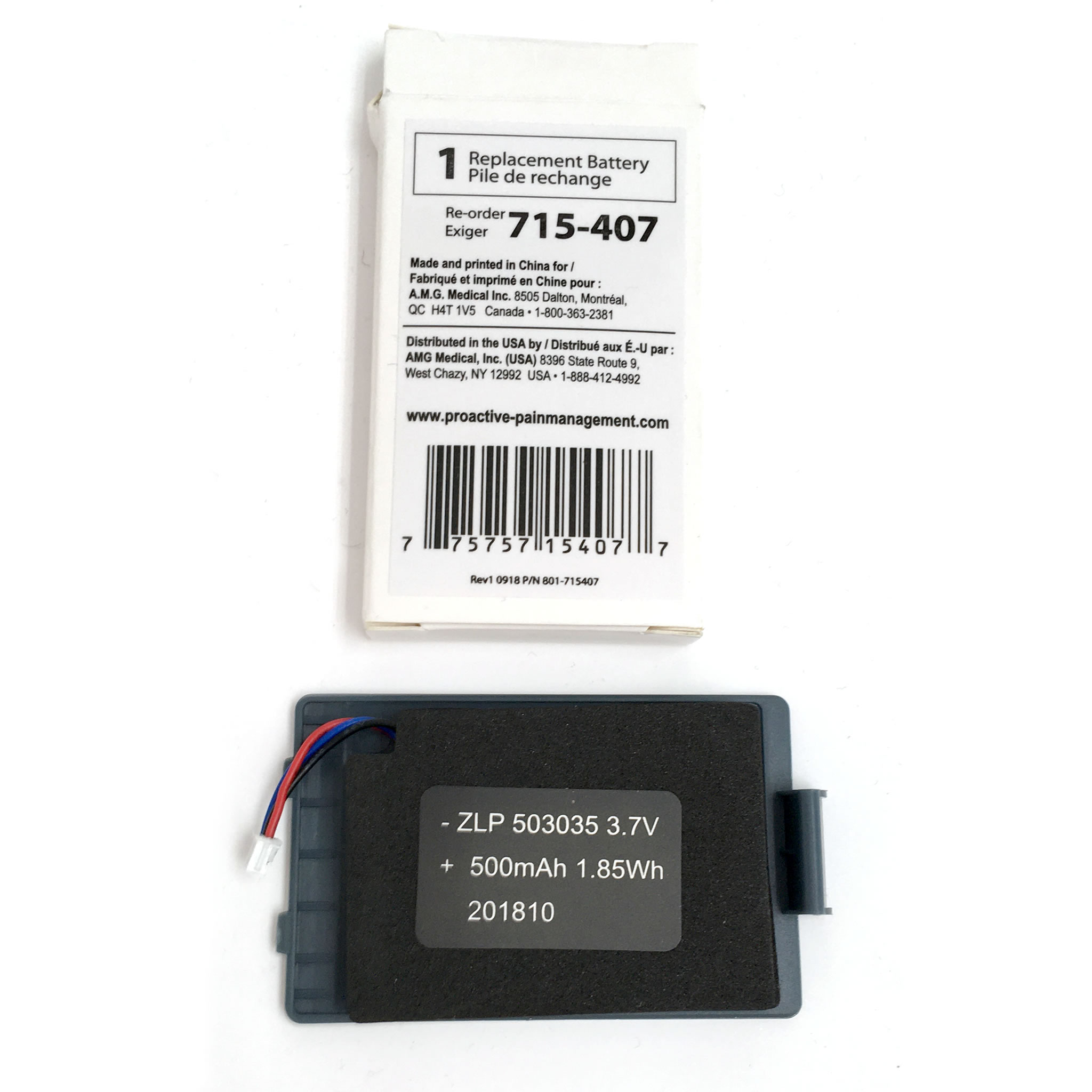Battery replacement for Thera3+