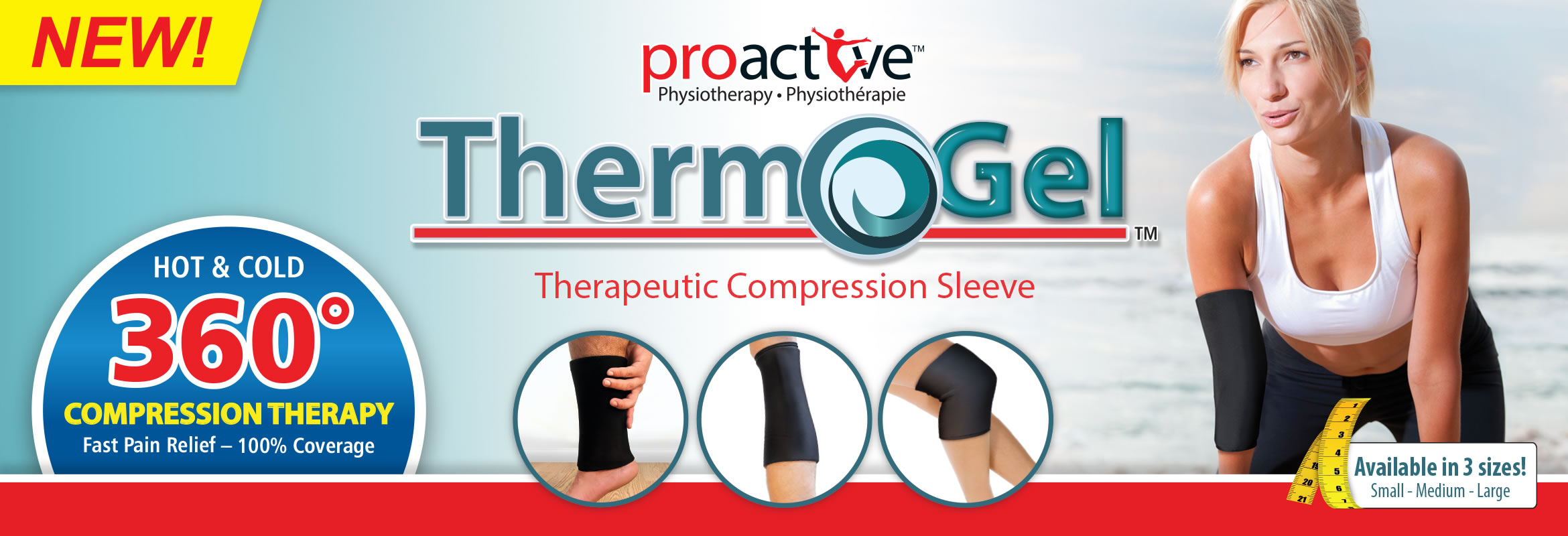 Hot & Cold 360° Compression therapy, compression sleeve